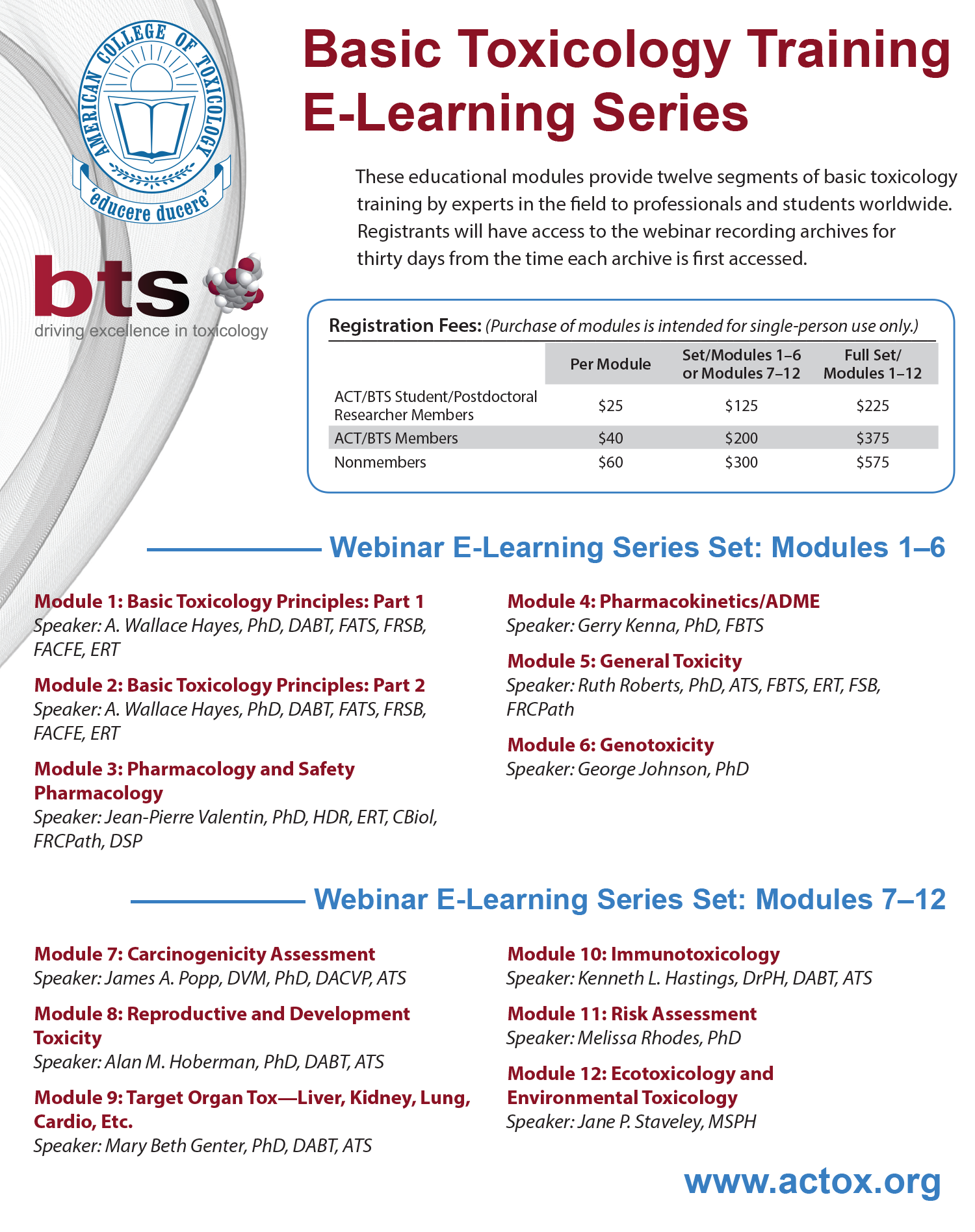 Basic Toxicology Training E-Learning Series