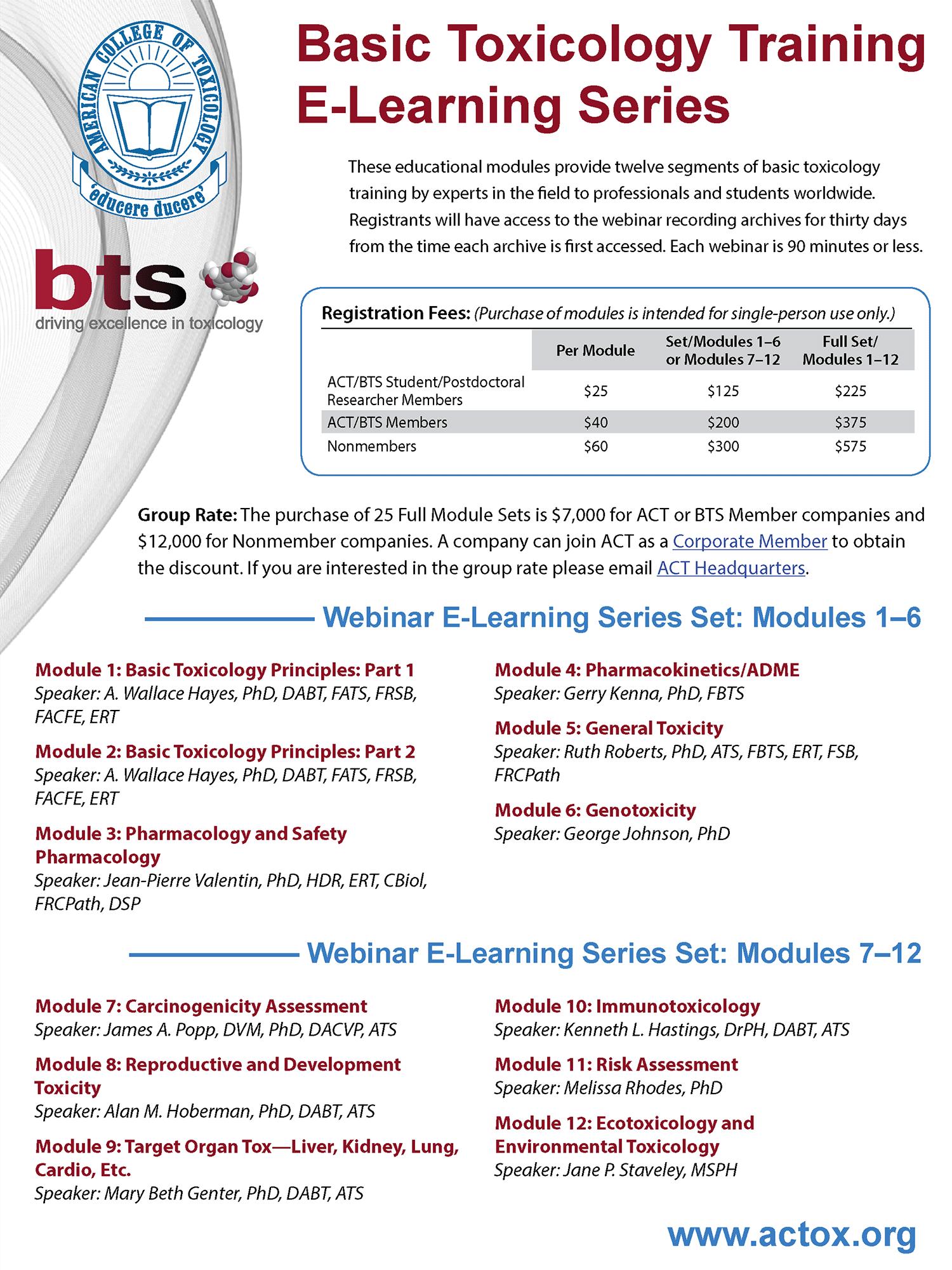 Basic Toxicology Training E-Learning Series