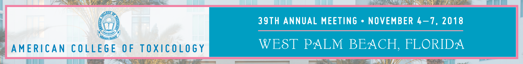 ACT 39th Annual Meeting - November 4-7, 2018 - West Palm Beach,