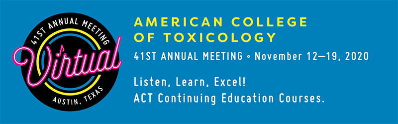 ACT 41st Annual Meeting - November 15–20,                                                  2020                                                  - Austin, Texas